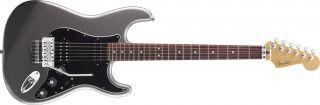 Fender Blacktop Strat FR Floyd Rose in Titanium Silver Finish
