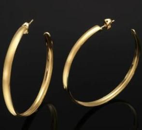 18 Carat Gold Earrings Extra Large Hoop E309 Y