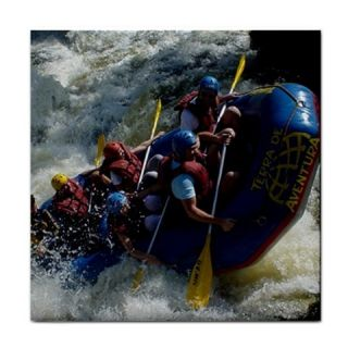 White Water Rafting Adventure Extreme Sports Ceramic Tile