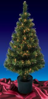 PRE LIT COLOR CHANGING FIBER OPTIC ARTIFICIAL CHRISTMAS TREE