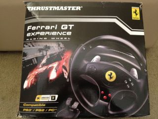 Thrustmaster Ferrari GT Experience Racing Wheel for PS3 PS2 and PC