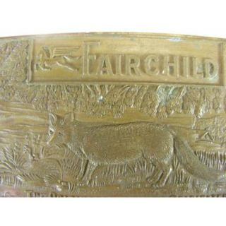 Vintage Fairchild Brass Belt Buckle Montauk Silver Company