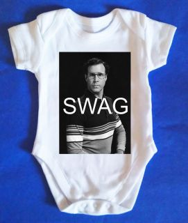 Will Ferrell Swag Baby Vest Baby Grow Retro Baby Clothes Awesome Funny