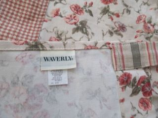 VINTAGE WAVERLY TAB TOP VALANCE FAIRHAVEN ROSE GENERAL STORE & GINGHAM