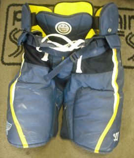 Pro Stock Asham Islander 14 Navy Ice Hockey Gloves Game Used