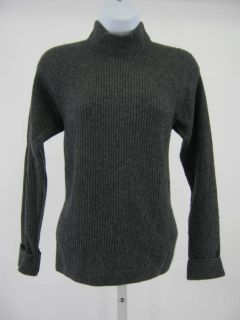 you are bidding on a erdos gray cashmere mock turtleneck sweater in a