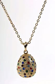Faberge Egg Necklace by Keren Kopal