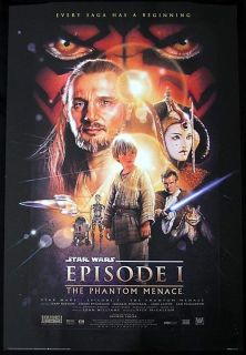 Star Wars Episode One Phantom Menace Jedi Movie Poster