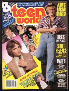 TEEN WORLD MAGAZINE ERIK ESTRADA CATHERINE BACH BEE GEES REX SMITH