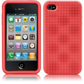Case Mate Silicone Egg Crate Case Screen Protector for Apple iPhone 4S