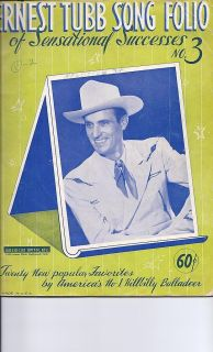 ERNEST TUBB Song Book #3 1943 20 favorites by Americas #1 hillbilly