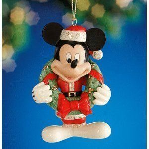 Lenox 2011 Disney Merry Mickey Mouse Christmas Ornament   NIB