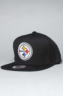 Mitchell & Ness The Pittsburgh Steelers Logo Snapback Hat in Black