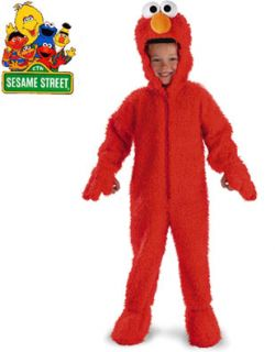 Deluxe Sesame Street Elmo Plush Costume Toddler 3 4T