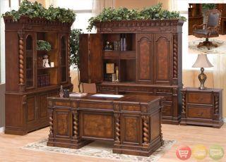 Double Pedestal Executive Desk Wood Office Furniture