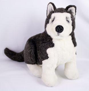 Lou Rankin Erskine Siberian Husky Puppy Dog Gray White Plush 11 Dakin