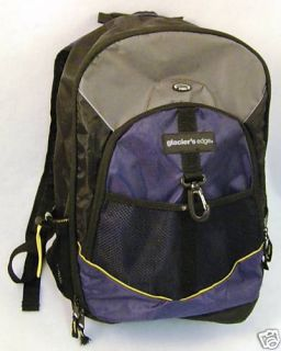 Glaciers Edge Backpack Navy Blue Black Gray E Port