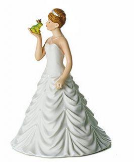 Fairytale Princess Bride Kissing Frog Prince Figurine