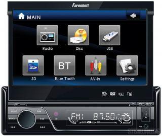 Farenheit Indash Car 7 Touchscreen Monitor Bluetooth DVD CD iPod