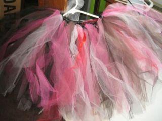 Halloween Costume Netting Dance Skirt Many Layer Full Pink Red Black