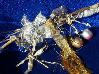 OOAK Handmade Faerie Wand, Celtic Wand, Celtic Silver Branch, 2 FREE