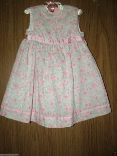 First Impressions Baby Girl 2 PC Floral Dress Set 24 Months