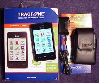 LG 840G TOUCHSCREEN TRACFONE WITH TRIPLE MINUTES FOR LIFE 3G AND FREE