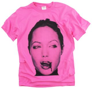 Angelina Jolie Fight Movie Star Sex Film Pink T Shirt