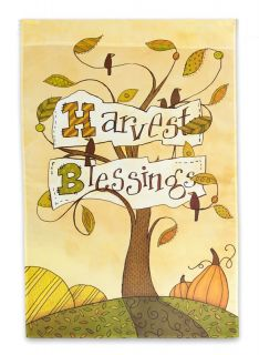 Harvest Blessings Autumn Fall Garden Flag Mini Flags