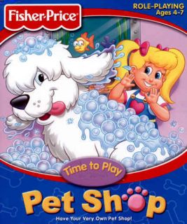 o Play Pe Shop PC CD Care for Dogs Fish Grooming Animal Game
