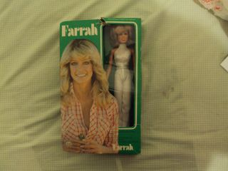 Vintage Farrah Fawcett Doll with Cut Out Accessories on Box