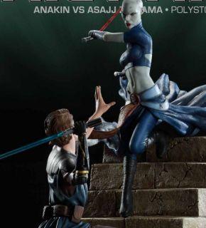 Sideshow Star Wars Movie Scene Anakin Skywalker vs Asajj Diorama