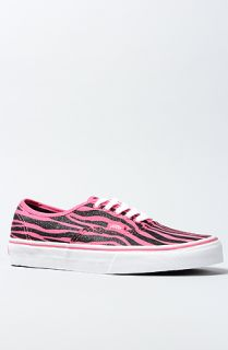 Vans Footwear The Authentic Sneaker in Hot Pink and Black Zebra