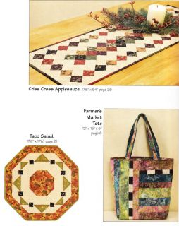 Atkinson Designs Lets do Lunch Tote Bags Table Runners Quilting Book