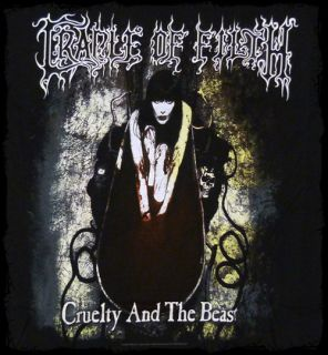 Cradle of Filth   Cruelty and the Beast t shirt   Official   FAST SHIP