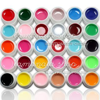 Pure UV Builder Gel Set Nail Art False Full French Tips Salon Set