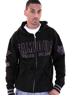 Famous Stars Straps Collegiate Dropout Zip Up Hoody