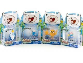 ADVENTURE TIME with Finn & Jake 2 FIGURES Ice King Weapon High Five