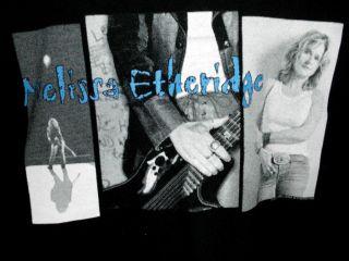Melissa Etheridge Vintage Live Alone Tour 2001 Shirt Size L Black