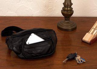 New Black Leather Travel Waist Hip Fanny Pack Belt Bag