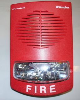 4906 9251 Multi Cadela Red Wall Mount Fire Alarm Strobe