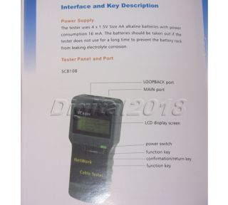 cat5 rj45 network cable tester meter length sc8108