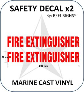 Fire Extinguisher Decal Sticker Kit Marine Safety Sign