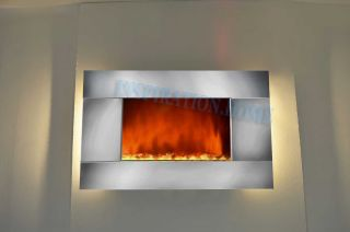 Wall Mounted Electric Fireplace Control Remote Heater Adjustable I