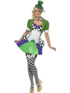 Costume Sexy Cappellaio Matto Donna Carnevale Halloween Festa