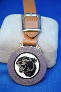 VINTAGE ARCTIC CAT SNOWMOBILES WATCH FOB   FEEDING HILLS, MASS.