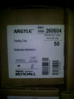 Argyle Tyco Feeding Tubes 8FRX 16in New Box of 50
