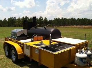 2011 East Texas Smoker Reverse Flow BBQ Trailer Grill