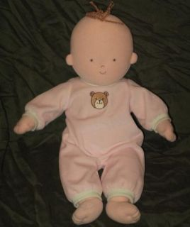 Pottery Barn Kids Plush Baby Doll First Soft Diaper Hannah Abby Pink