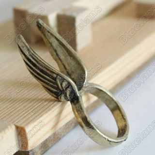 Vintage Personality Lovely Angels Wing Fashion Ring 5090